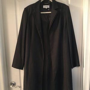 Calvin Klein dress w/long line open front jacket